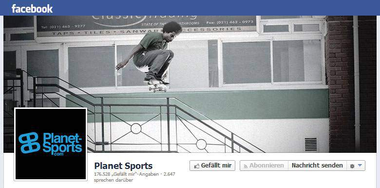 Planet Sports bei Facebook