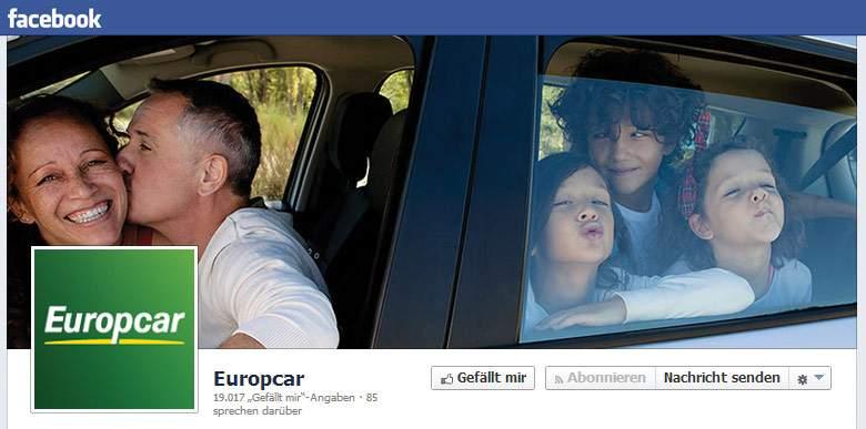 Europcar Facebook