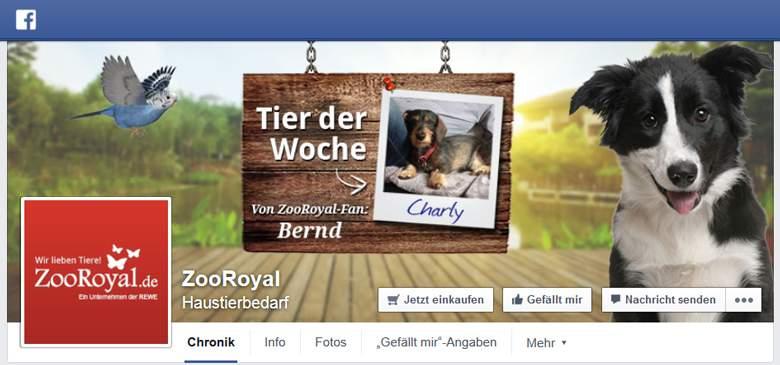 Facebook von Zooroyal