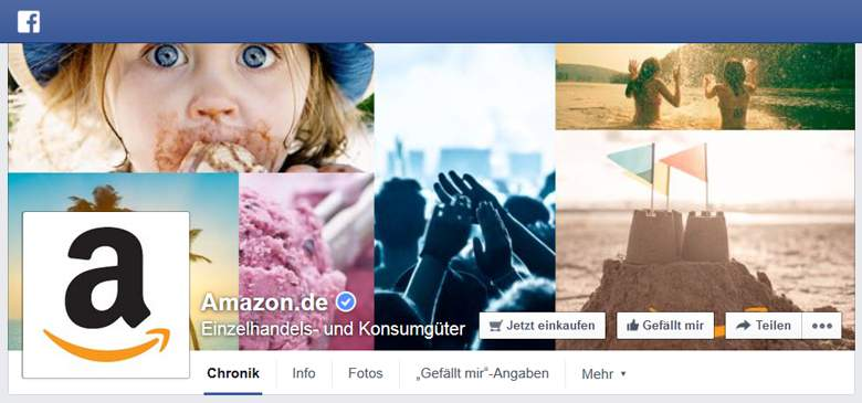 Amazon bei Facebook