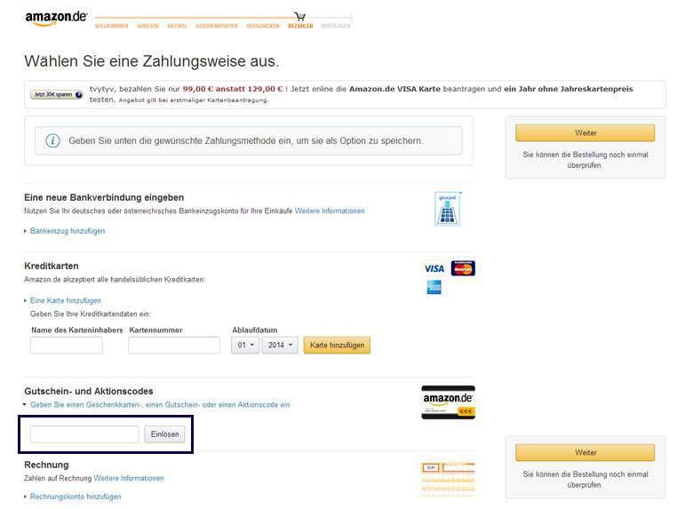 Amazon Warenkorb