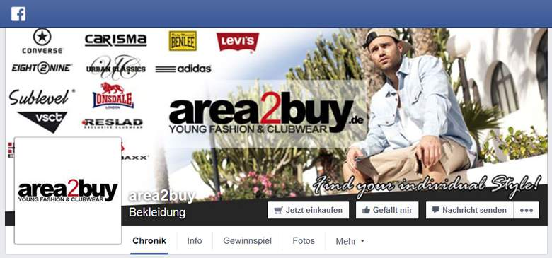 Facebook von area2buy
