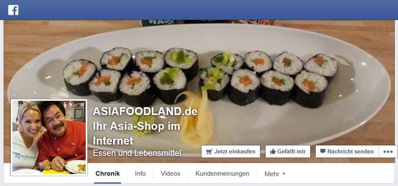 Facebook von Asiafoodland