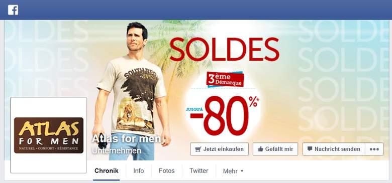 Facebook von Atlas for Men