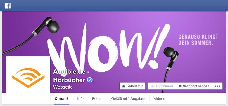 Facebook von Audible