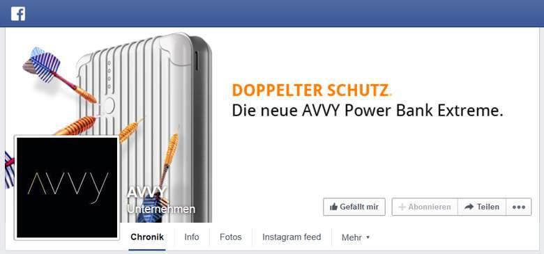 Avvy bei Facebook