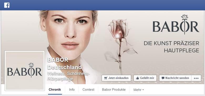 Facebook von Babor