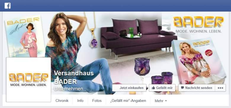 Bader bei Facebook
