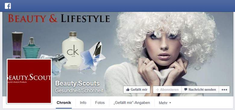 Beauty Scouts bei Facebook