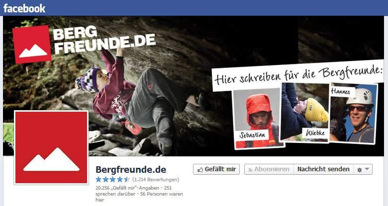 Facebook von Bergfreunde