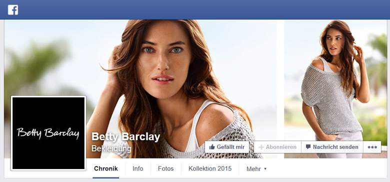 Betty Barclay bei Facebook