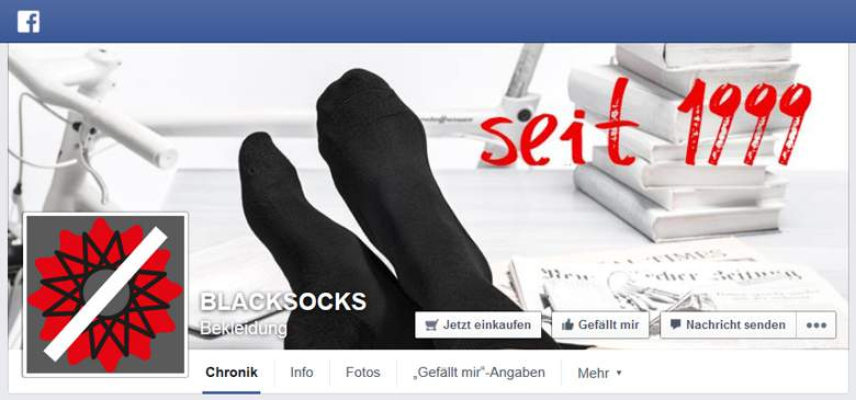 BlackSocks bei Facebook