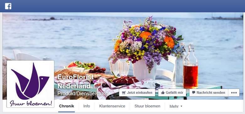 Blumenonline bei Facebook