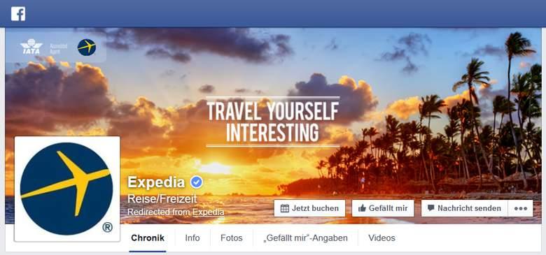 Facebook von Expedia