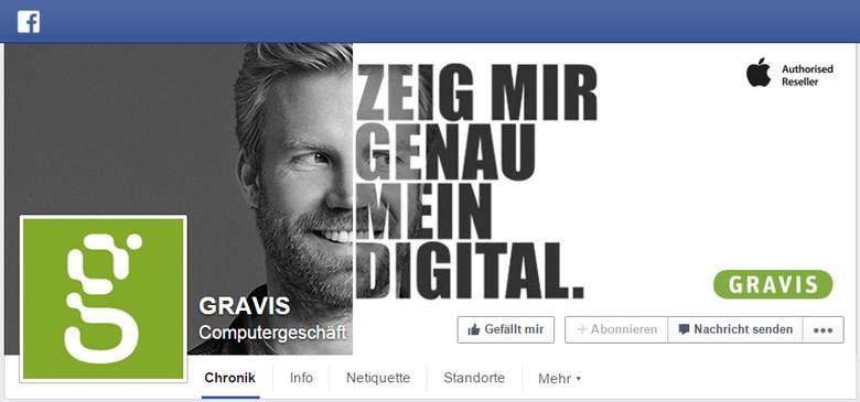 Facebook von Gravis