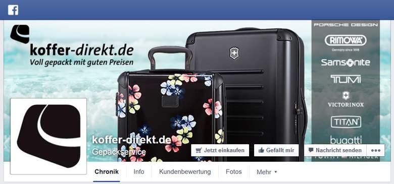 Facebook von Koffer Direkt