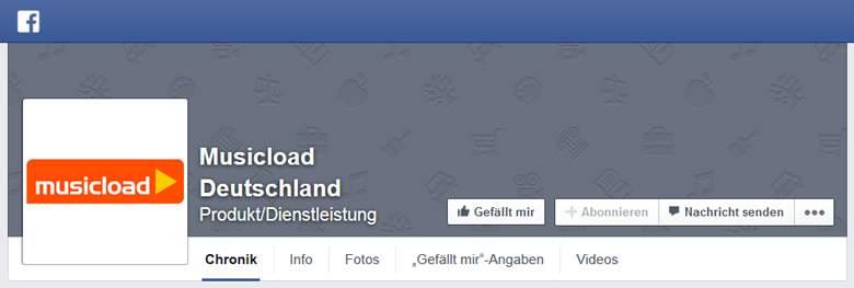 Facebook von Musicload