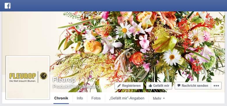 Facebook von Fleurop