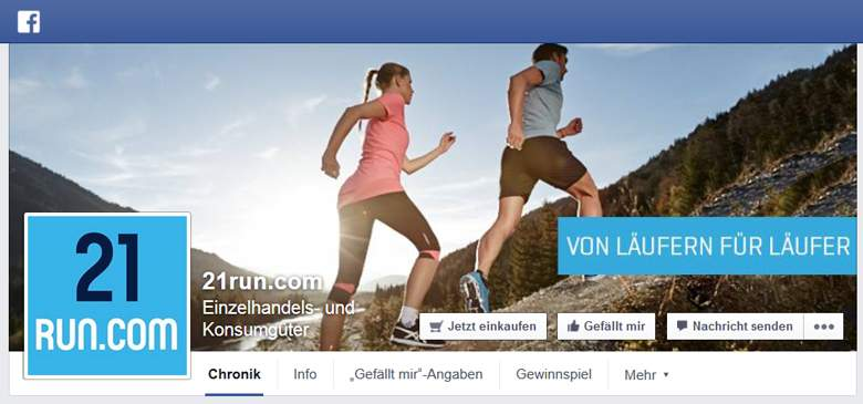Facebook von 21Run