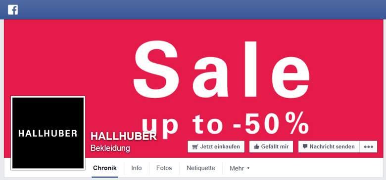 Facebook von Hallhuber
