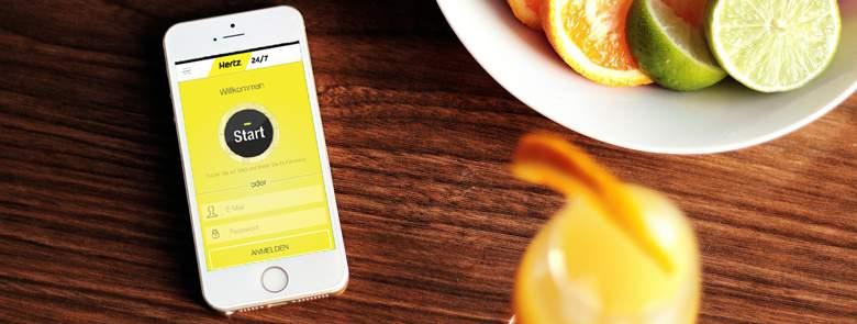 Hertz App for iPhone