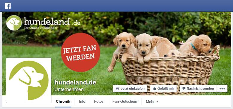 Facebook von Hundeland