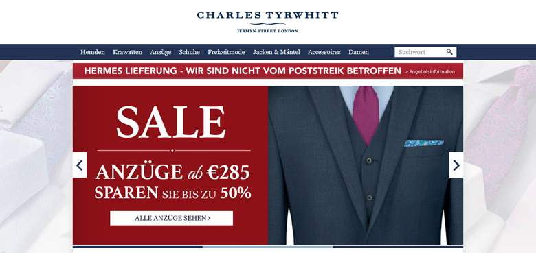 Charles Tyrwhitt shop