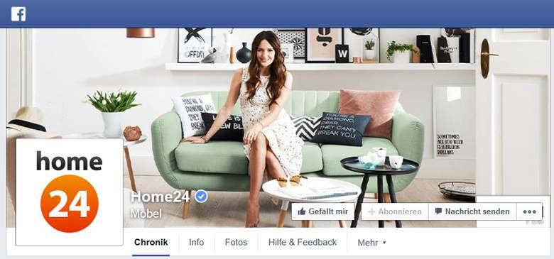 Facebook von Home24
