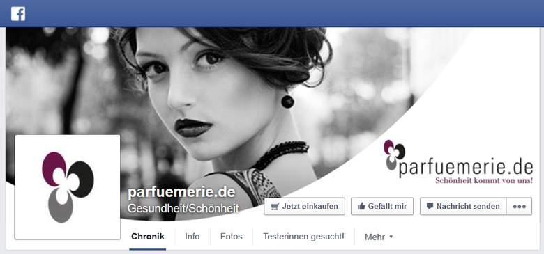 Facebook von Parfuemerie.de