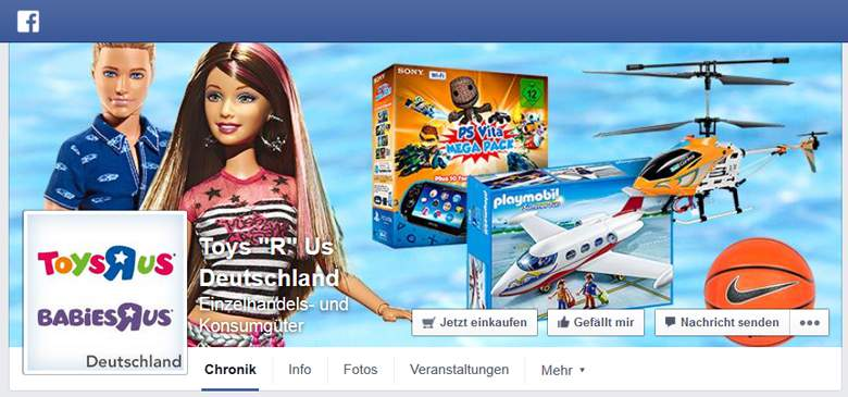Toysrus bei Facebook