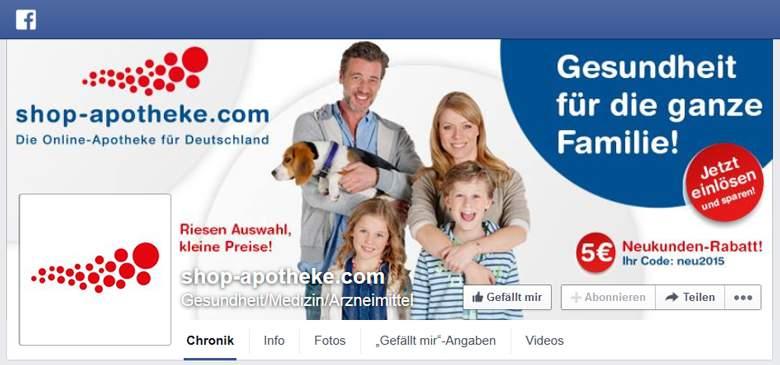 Facebook von Shop-Apotheke