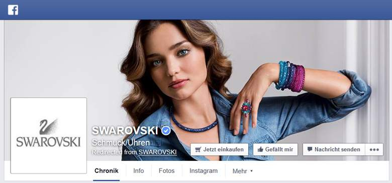Facebook von Swarovski