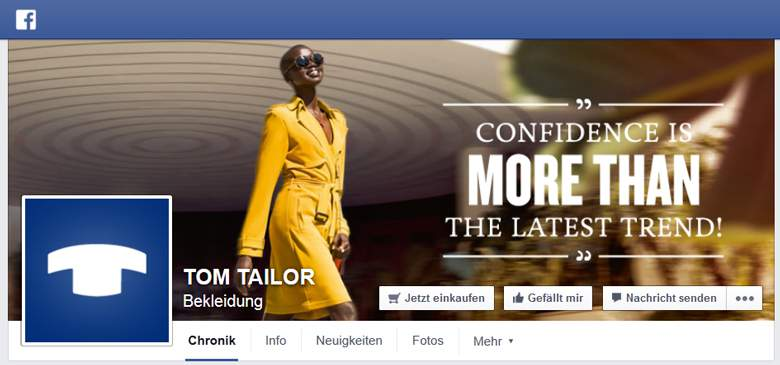 Facebook von Tom Tailor
