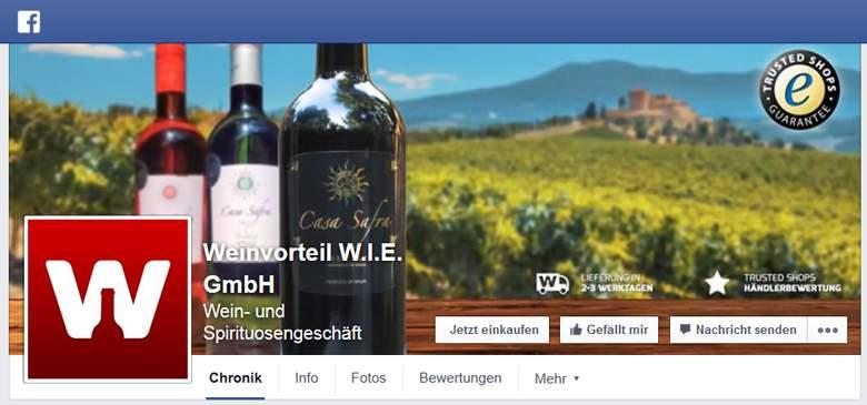 Facebook von Weinvorteil