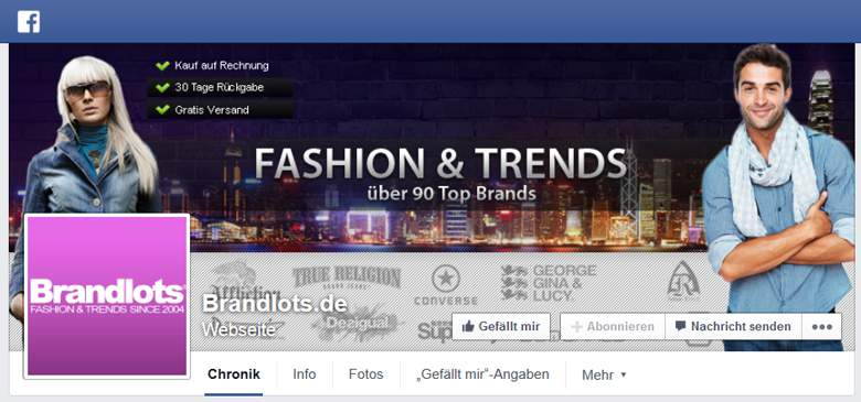 Brandlots bei Facebook
