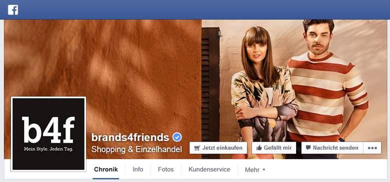 Brands4friends bei Facebook