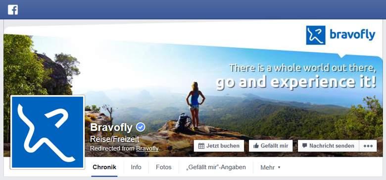 Bravofly bei Facebook