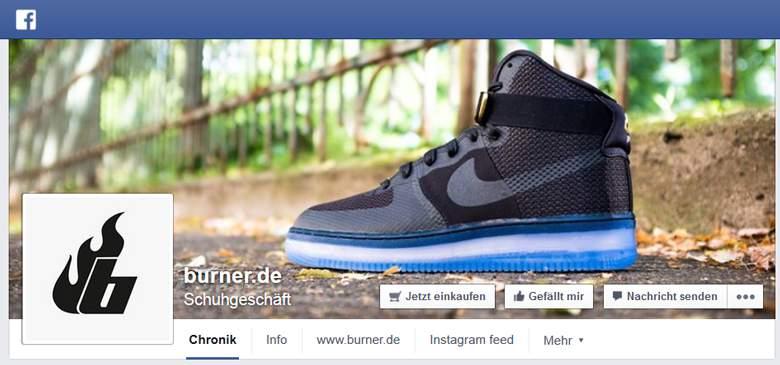 Burner bei Facebook