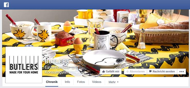 Butlers bei Facebook