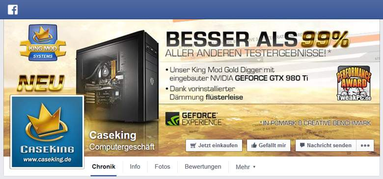 Caseking bei Facebook