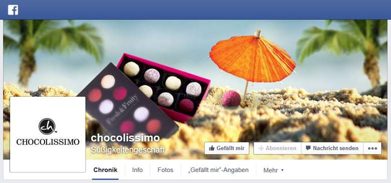 Chocolissimo bei Facebook