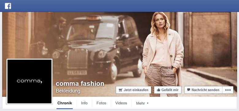 Comma bei Facebook
