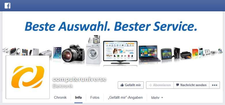 ComputerUniverse bei Facebook