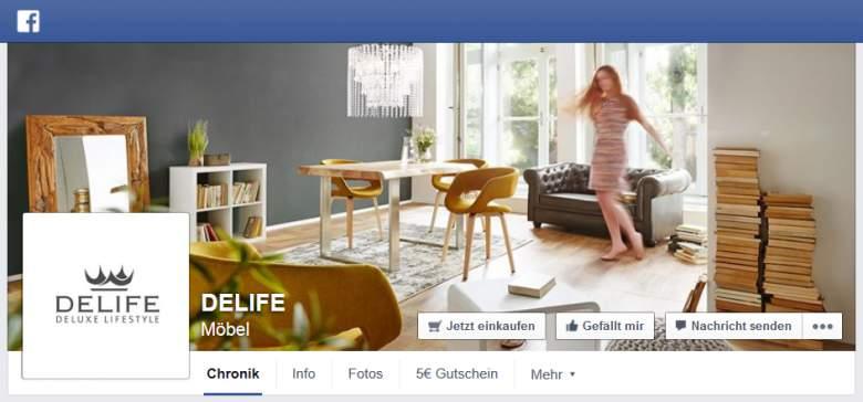 DeLife bei Facebook