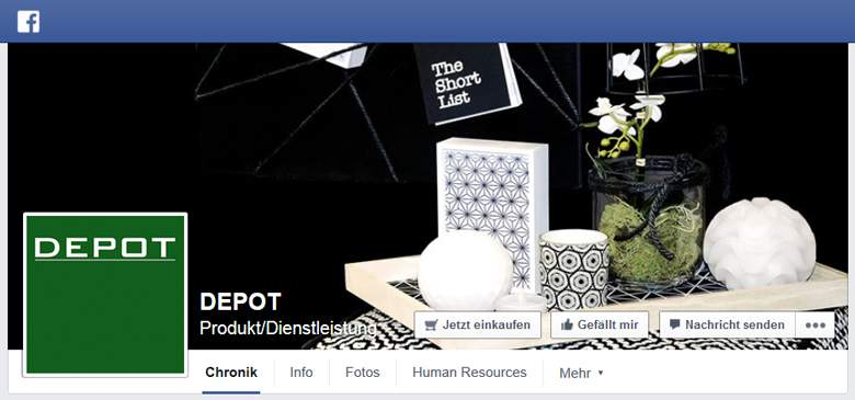 Depot bei Facebook