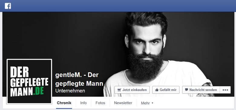 Der gepflegte Mann bei Facebook
