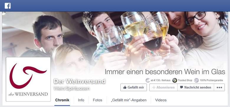 Der Weinversand bei Facebook