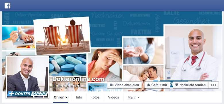 Dokteronline bei Facebook