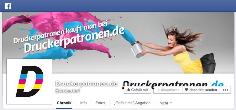 Druckerpatronen.de bei Facebook