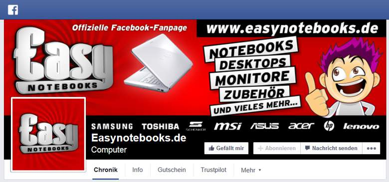 Easynotebooks bei Facebook